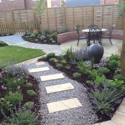 Garden Design Suffolk Water Feature and Planting