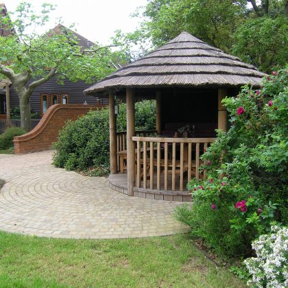 Garden Design Suffolk Thatched Gazebo2
