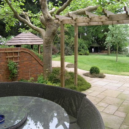 Garden Design Suffolk View to Gazebo