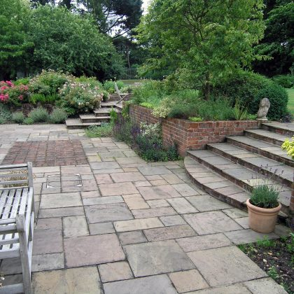 Sandstone Paving Traditional Garden