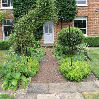 brick pavior path to front door