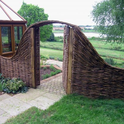 Garden Design Suffolk Woven Willow Gate