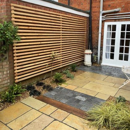 Courtyard Garden with Timber Slats