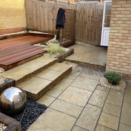 Modern garden on two levels