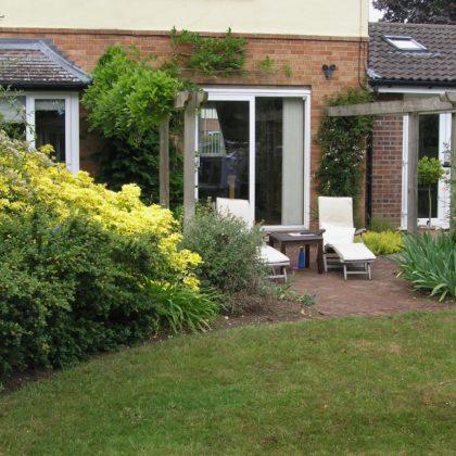 JJ Garden Design Suffolk - view to house